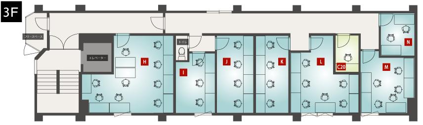 SAKURA-N32 3F見取り図