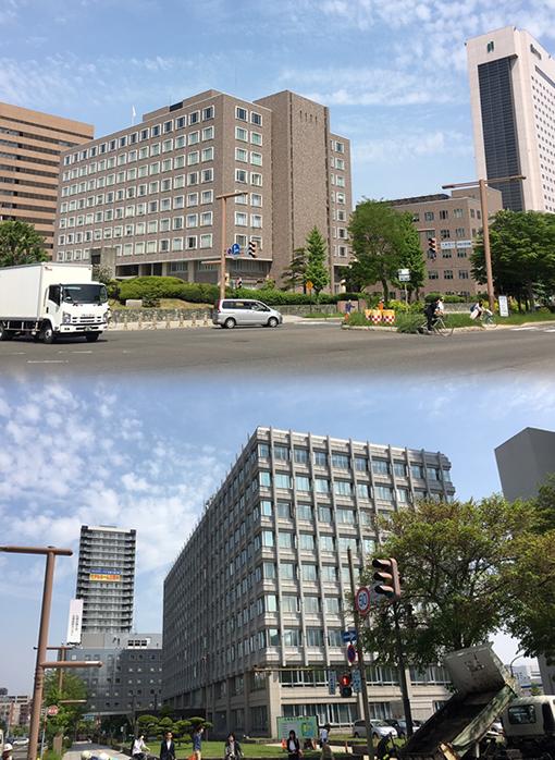 札幌の官公庁が集まる
